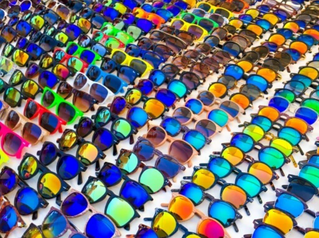 Gafas fabricadas con parafina